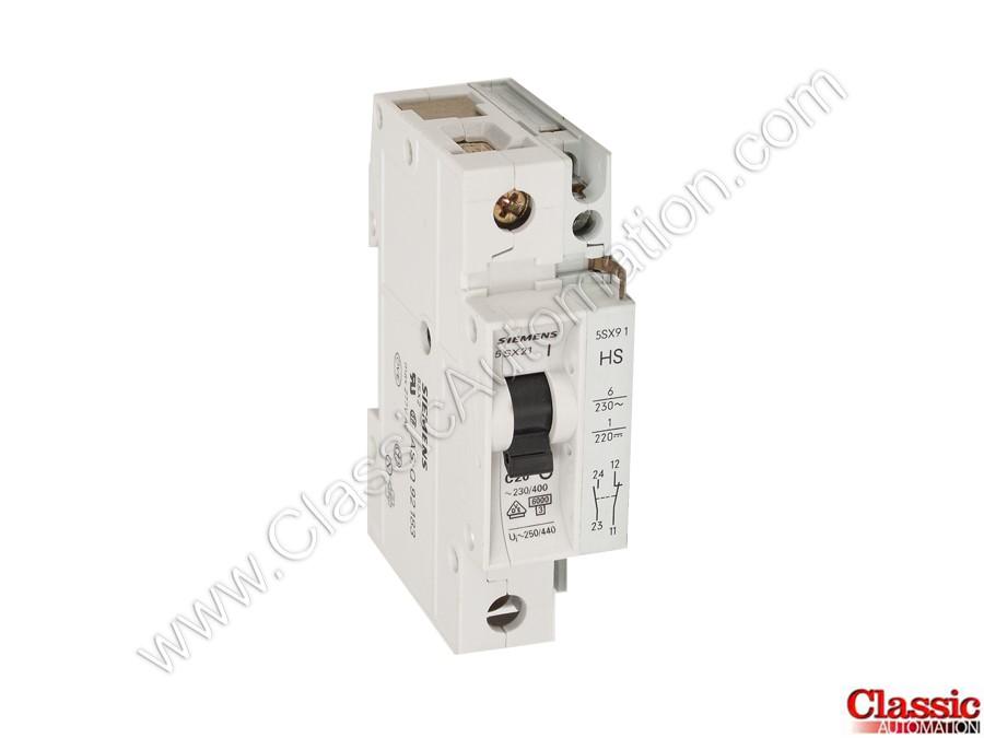 5SX21 C20 | Siemens | 20 Amp Circuit Breaker