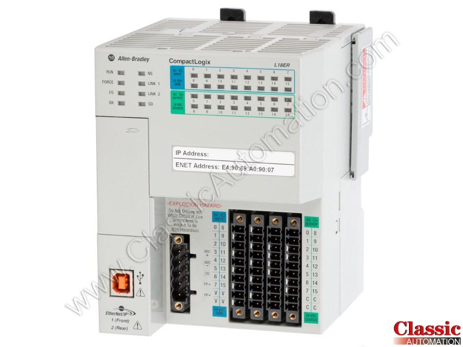 1769 L18er Bb1b A Compactlogix 5370 L1 Ethernet Processor Module