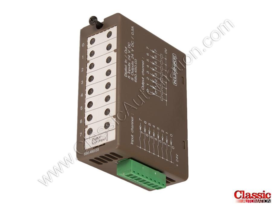 DIGITAL INPUT-//OUTPUT MODULE; 24VDC KUHNKE 680.450.03 FS