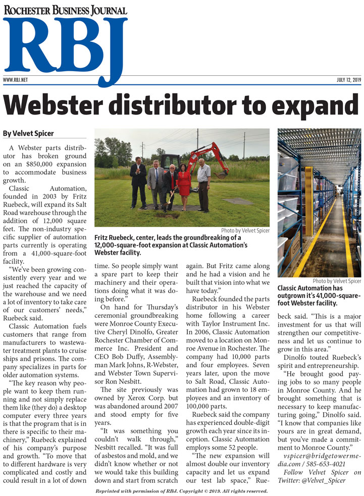 Webster Distributor to Expand